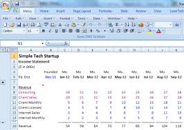 Financial Modeling Excel Templates Simple Financial Model For A Startup Opspark Inc