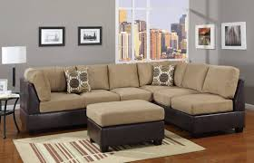 Leather And Suede Sectional Sofa Stylish Leather And Suede Sectional Sofa Mediasupload