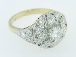 size 6 engagement ring vintage two tone open design engagement ring