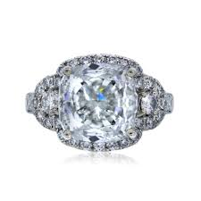 gold cushion cut engagement rings 18k white gold 3 57ct cushion cut diamond engagement ring boca raton