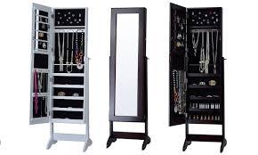 Free Standing Full Length Mirror Jewelry Armoire Standing Mirror Jewelry Cabinet Mf Cabinets
