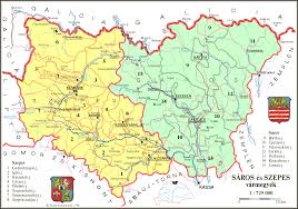 Slovakia Map Saros County In Northern Slovakia Bardejov Region