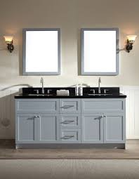 Bathroom Furniture Set Ariel Hamlet 73 Sink Vanity Set With Absolute Black