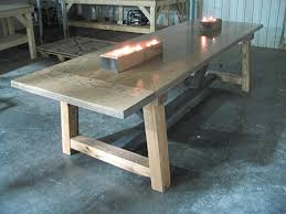Dining Table On Sale by Farmhouse Table For Sale Farmhouse Table Finished Product Side