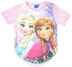 girls disney frozen anna u0026 elsa dipped hem shirt 7 13