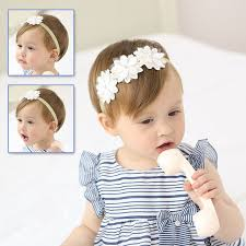 white flower headband 2017 lovely baby white flower headband toddler infant hair