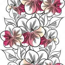 All About Flowers - floral pattern outline u2014 stock vector all about flowers 60927641