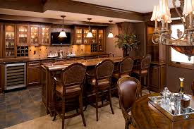 Folding Home Bar Cabinet Folding Bar Stools Kitchen Traditional With Wine Racks Leather