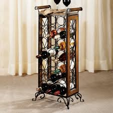 Floating Bar Cabinet Square Dark Brown Wooden Corner Liquor Cabinet With Bottle And