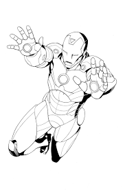 iron man clipart black and white clipartxtras