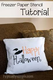 halloween pillow halloween pillow cover using a freezer paper stencil typically