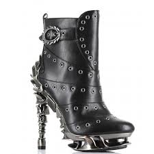 awesome motorcycle boots raven gothic ankle boots as seen on american idol spinal heel