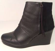 womens black suede boots size 11 tom s s size 11 ankle boots ebay