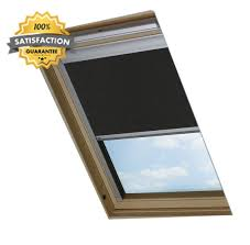 bloc skylight blind uk08 for velux roof windows blockout black