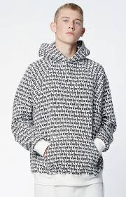 fear of god pacsun fog printed pullover hoodie medium ships