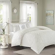 Comforter Store Madison Park Sarah White Tufted Comforter 4 Piece Set Free