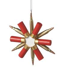 snowflake shotgun shell ornament home kitchen