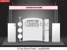 creative exhibition stand design booth template corporate eps