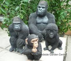 resin chimpanzee sitting animal garden ornament woodside
