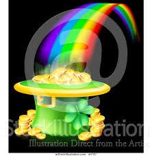 vector illustration of a st patricks day leprechaun hat pot of