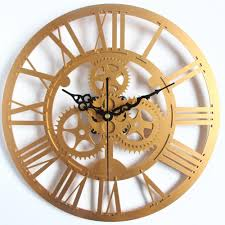 wholesale modern home decor large wall clock 3d retro clock europe