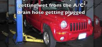 jeep compass air conditioning problems how to fix a plugged up air conditioner drain hose on a jeep