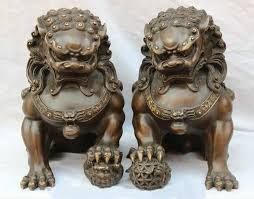 japanese guard dog statues 12 pair home fengshui purple bronze guardian lion foo fu