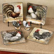 Rooster Kitchen Canisters Vintage Rooster Dinner Plate Set