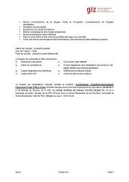 bureau d ordre et d emploi giz tunisie offre d emploi le bureau de la giz