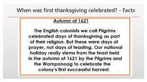 when was thanksgiving celebrated facts when did thanksgivin