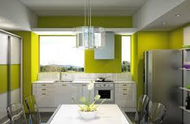 cuisine jaune et verte modèle cuisine verte et jaune