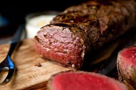 garlicky beef tenderloin with orange horseradish sauce recipe