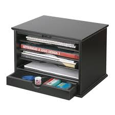 Wood Desk Accessories And Organizers Victor 4 Shelf Desktop Organizer Black 4720 5 The Home Depot