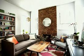 brick wall apartment plush brick wall inside small studio apartment feat eclectic