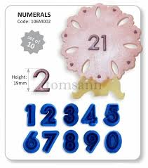 jem number cutters set of 10 106m002 cake decorating gum paste