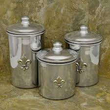stainless steel canister sets kitchen 54 best kitchen and bath images on fleur de lis