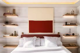 bedroom shelves bedroom design idea replace a bedside table and l with floating