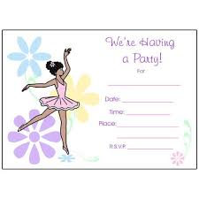 blank invitations ballet or fill in the blank invitations dainty floral