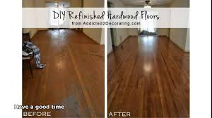 Refinished Hardwood Floors Before And After Pictures by Refinishing Hardwood Floors Without Sanding Youtube