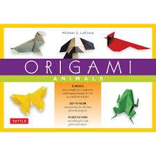 origami animals kit book and kit tuttle publishing