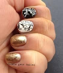 black gold nail art gallery nail art designs