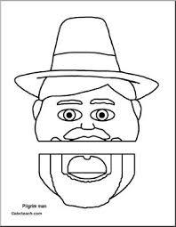 paper bag puppet thanksgiving pilgrim abcteach