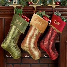 glitter swirl christmas stockings