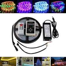 ip67 led strip lights 5m 5050 rgb dream color 6803 ic led strip light waterproof ip67 12v