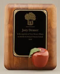 retirement plaque apple plaque