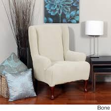 Wing Chairs For Living Room by Furniture Charming Chair With Wingback Chair Slipcover In Solid