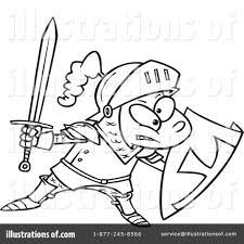 knight clipart 439009 illustration by toonaday