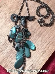 etsy beads necklace images Key necklace set with shell beads shell bead necklace and etsy jpg