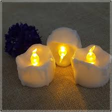 fake tea light candles flickering flameless led tea light candles with timer wax dripped