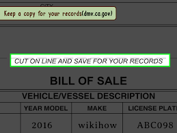Sample Of A Bill Of Sale For A Car by How To Draft A Bill Of Sale For A Vehicle With Pictures